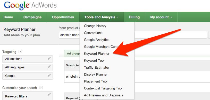 keyword planner
