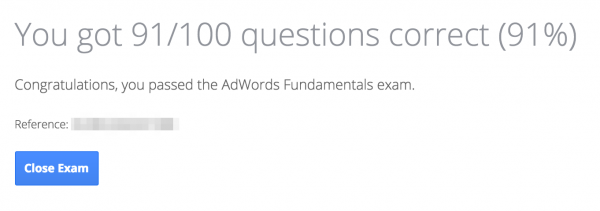 adwords fundamentals exam