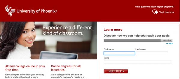 university of phoenix ppc
