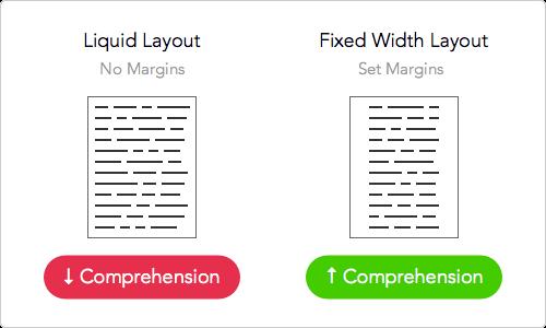 landing page line width