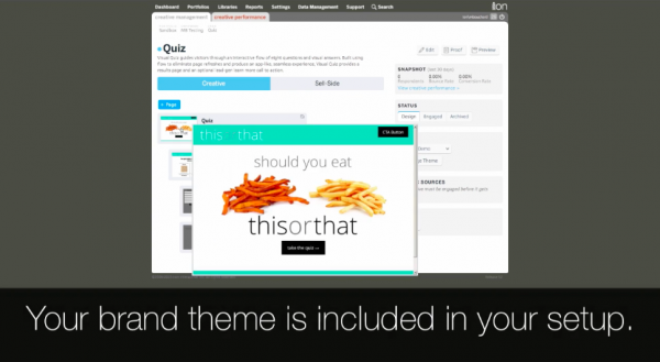 ion interactive landing page tool
