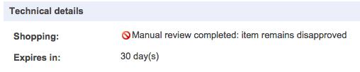 google shopping manual review