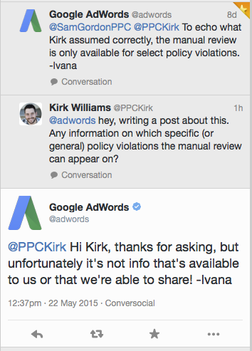 google shopping violations