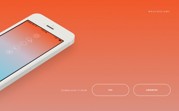 gradient landing pages