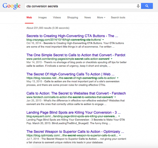 google search cta secrets