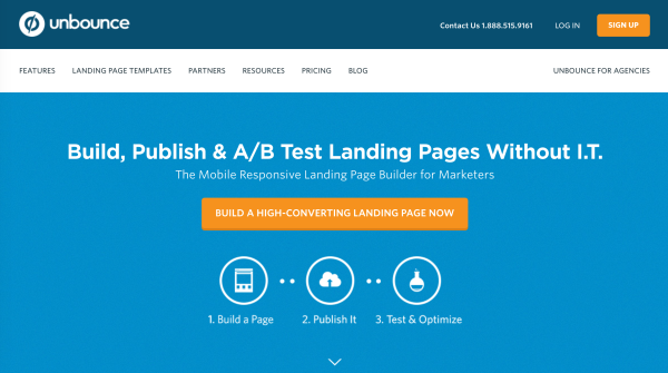 best landing page examples unbounce