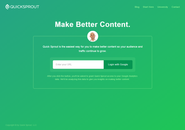 good landing page example