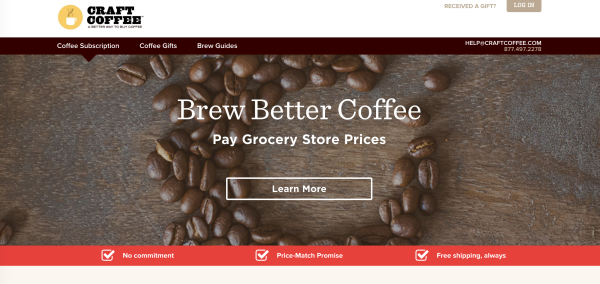 great landing page example