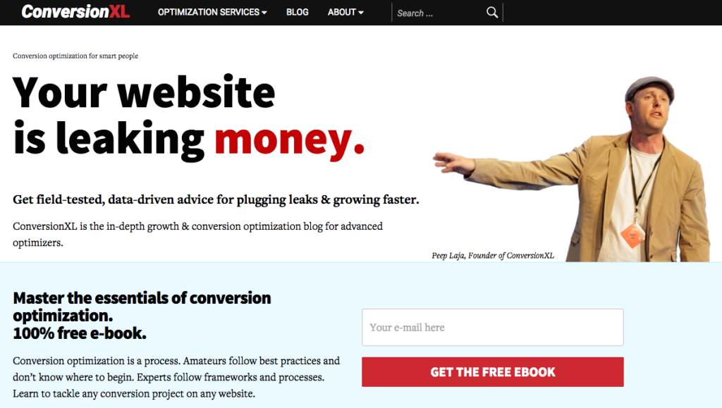 landing page form