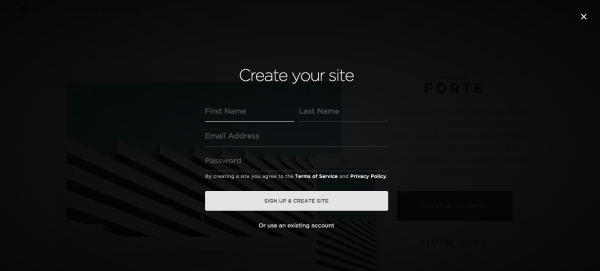landing page form template