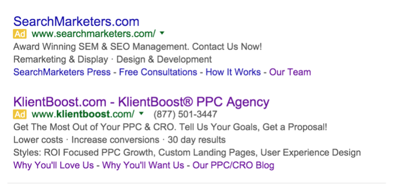 beat competition with adwords