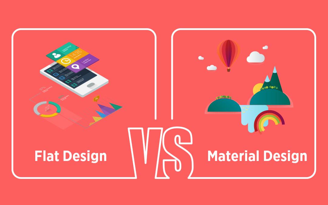 Flat Design Vs Material Design