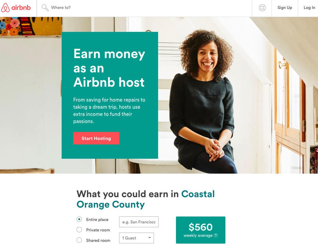 landing page checklist airbnb