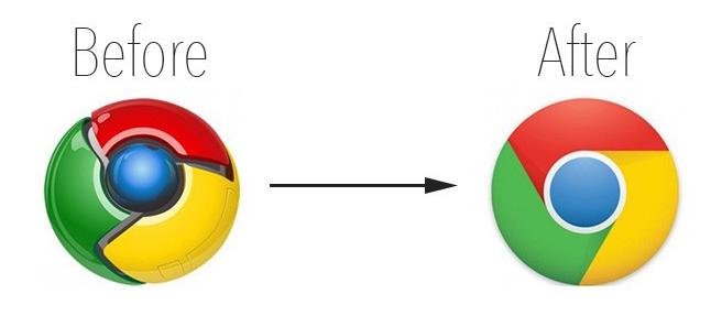 google logo to flat