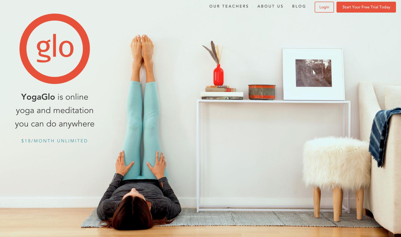 landing page checklist yoga glow