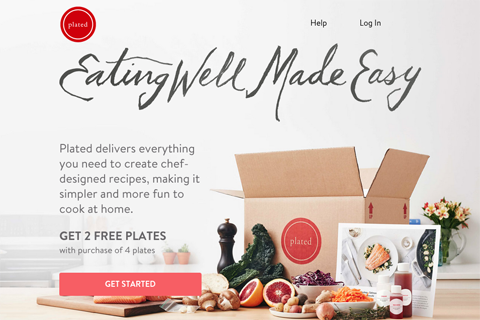 plated social media landing page