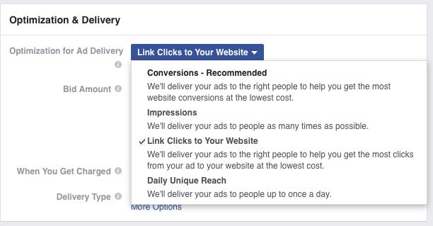 Facebook ad bidding