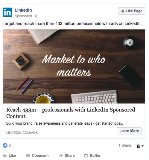 LinkedIn value offer