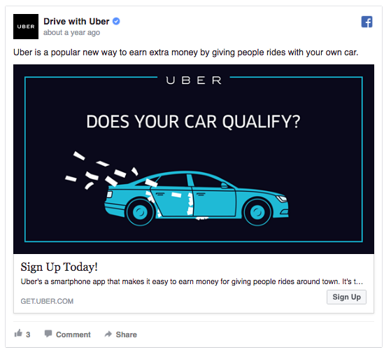 Uber question ad
