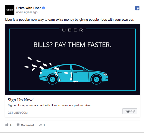 Uber simple ad