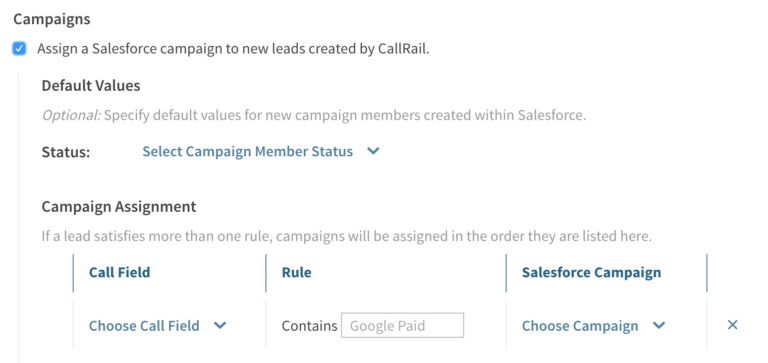 CallRail and SF campaigns PPC call tracking