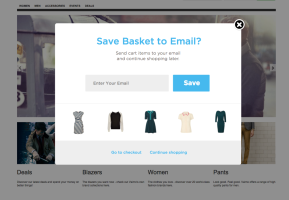 Save Cart to Email