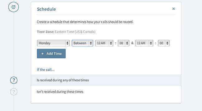 schedule step ui
