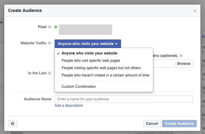 Facebook custom audience parameters