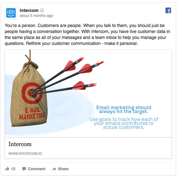 Intercom ad example