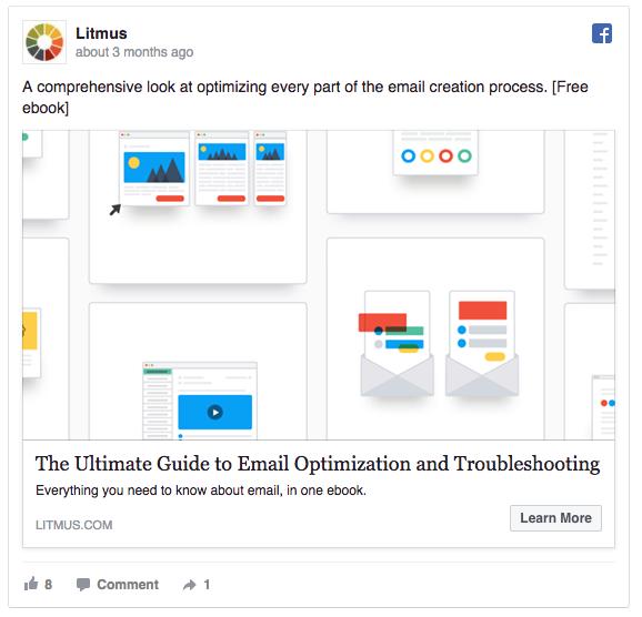 Litmus Facebook ad example