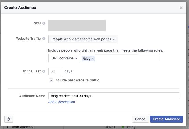 custom audience blog visitors
