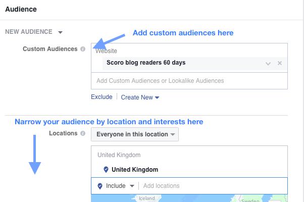 narrow custom audiences