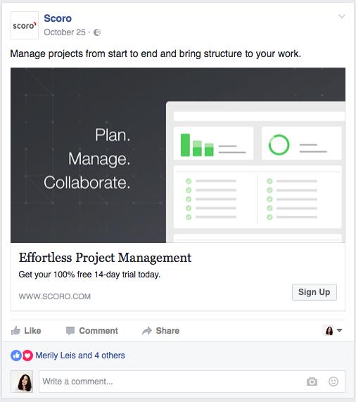 project management retargeting campaign