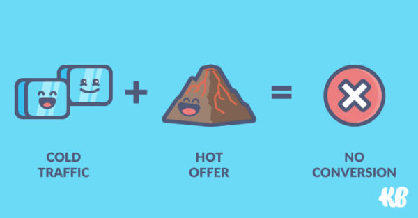Cold traffic + hot offer = no conversion