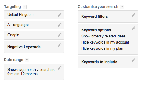audience targeting keyword planner