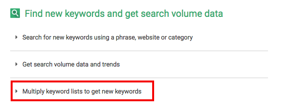 multiply keyword lists