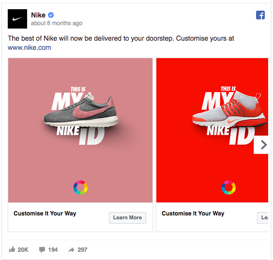 Nike's Facebook Ad Is High on Contrast