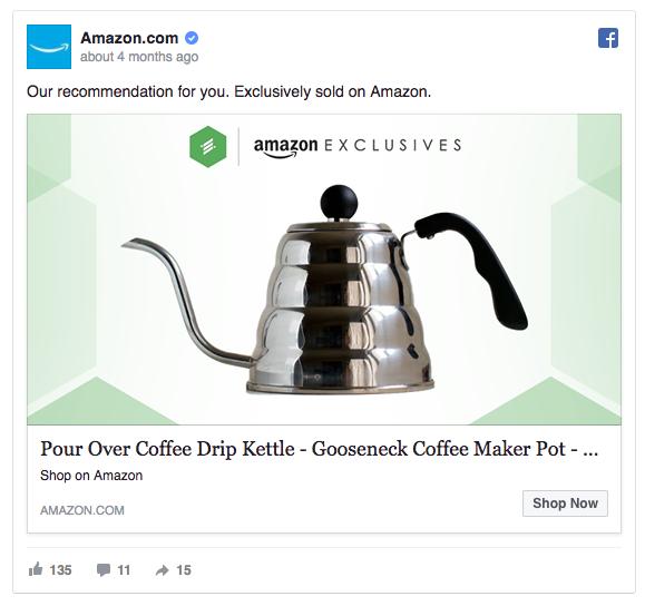 Amazon facebook ad