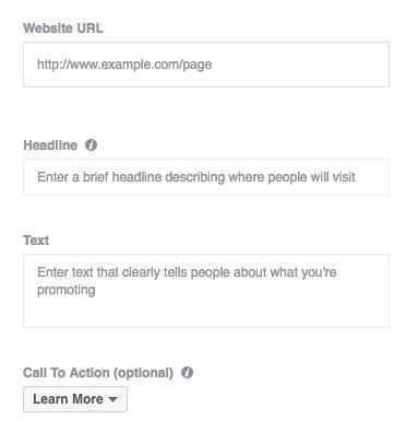 FB copy fields