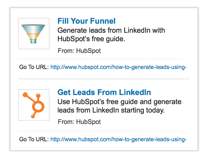 HubSpot LinkedIn Text Ads