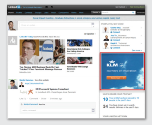 LinkedIn Medium Rectangle Display Ad