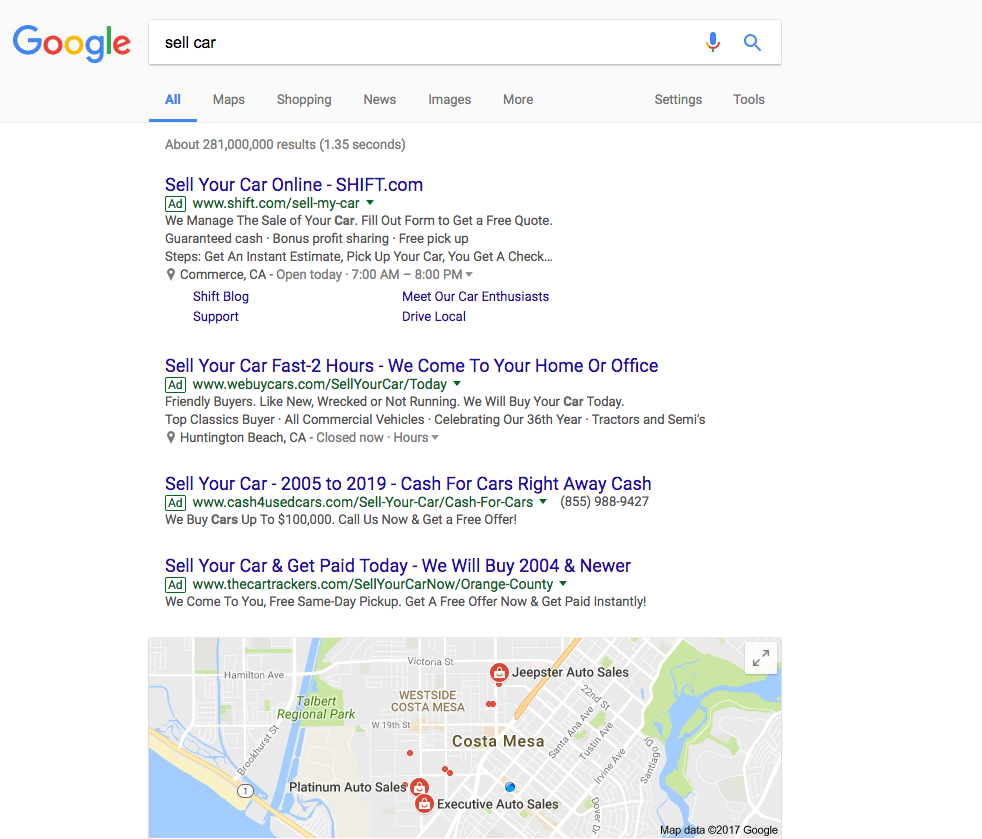 KlientBoost's Client Ads in Google Search