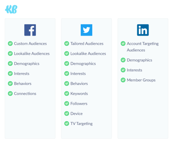 Social Media Platform Targeting Comparisons