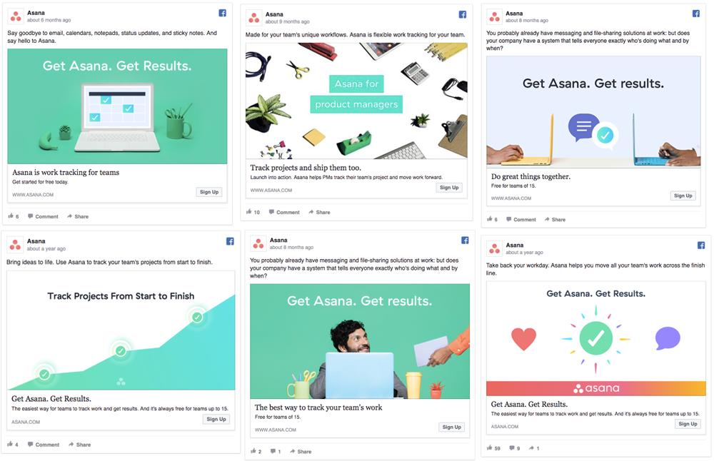 A/B test ad design in facebook