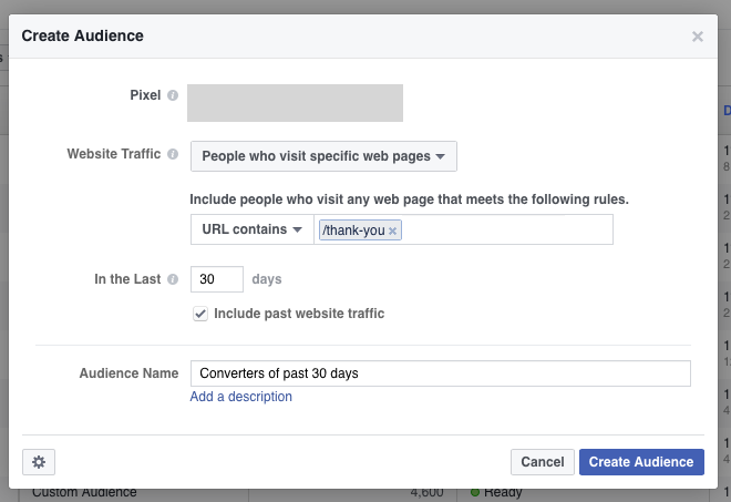 Step 1: Create a Facebook Custom Audience