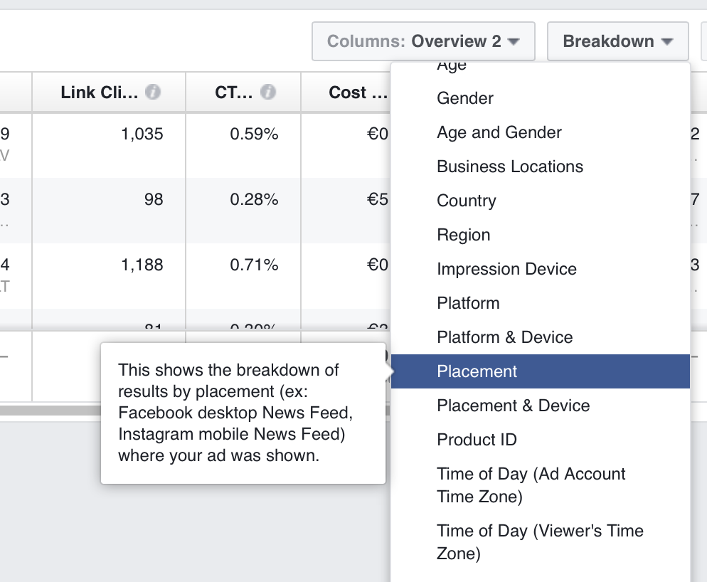 Conduct Facebook ads research with the Ads Manager