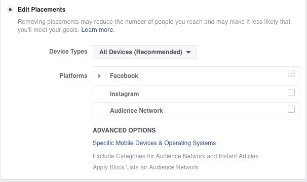 Facebook Ad Set