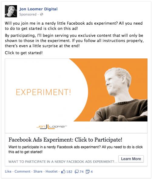 Jon Loomer Ran an Ad Bidding Experiment