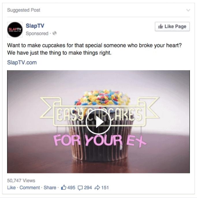 SlapTV Facebook Page Like ad