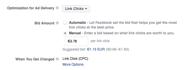 Facebook Will Show You Suggested Bids
